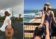 Hài hước với bộ ảnh theo em đi khắp thế gian  của vợ chồng Đài Loan