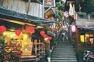 Làng cổ Cửu Phần nằm trên sườn núi ở Đài Loan