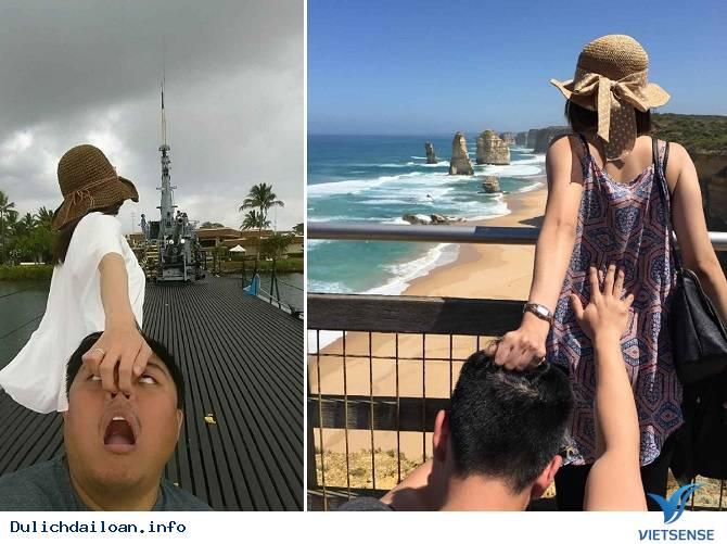 Hài hước với bộ ảnh theo em đi khắp thế gian  của vợ chồng Đài Loan,hai huoc voi bo anh theo em di khap the gian  cua vo chong dai loan